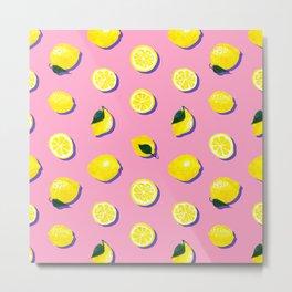 Pink Lemon ~ 80's Pattern Metal Print
