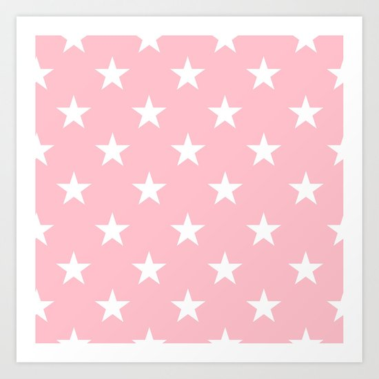 Stars (White/Pink) by 10813apparel