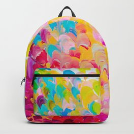 CREATION IN COLOR - Vibrant Bright Bold Colorful Abstract Painting Cheerful Fun Ocean Autumn Waves Backpack