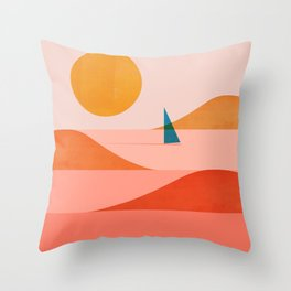 Abstraction_Sailing_Ocean_002 Throw Pillow