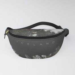 Iceland Map Poster Low Poly Style Fanny Pack