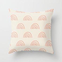 Rainbow Pattern Throw Pillow