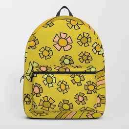 Retro Flower Power Flow by surfy birdy Backpack
