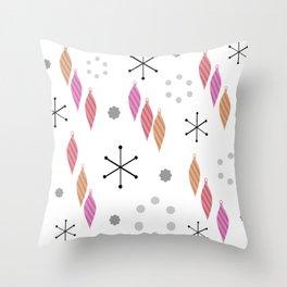Mid Century Modern Winter Throw Pillow