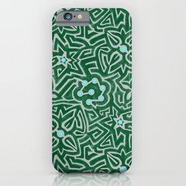 Flower hedge maze iPhone Case