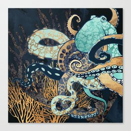 Metallic Octopus II Canvas Print