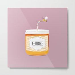 Bee flexible Metal Print