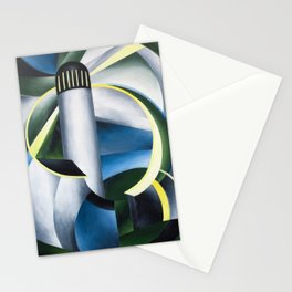Variation on a Lighthouse landscape painting by Ida O'Keeffe Stationery Cards