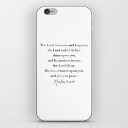 The Lord Bless You and Keep You Numbers 6 iPhone Skin