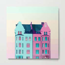 "MALMO SWEDEN ""magical house"" Metal Print"