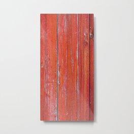 Red Rustic Fence rustic decor Metal Print