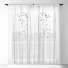Fragile Rose Sheer Curtain