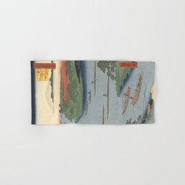 Summer River Mouth Ukiyo-e Japanese Art Hand & Bath Towel