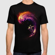 Space Surfing Black MEDIUM Mens Fitted Tee