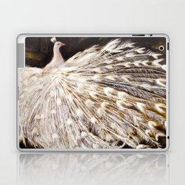 White Peacock Oil Painting Laptop & iPad Skin