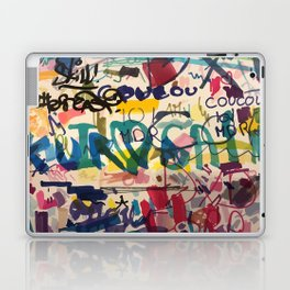 Urban Graffiti Paper Street Art Laptop & iPad Skin