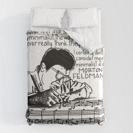 Morton Feldman with Quote Comforters