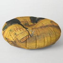 THE GARDEN OF DEATH - HUGO SIMBERG Floor Pillow
