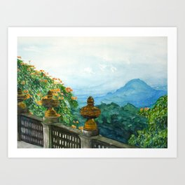 The View from La Cieba Grafica Art Print