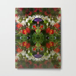 Flowers reflections on the double. Metal Print