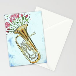Euphoric Euphonium Stationery Cards