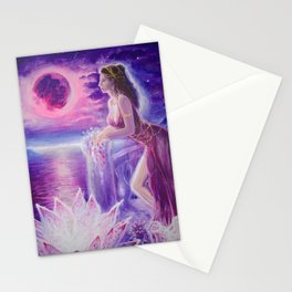 Mnasidika in Lydia missing Atthis and Sappho and the isle of Lesbos Stationery Cards