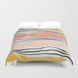Modern irregular Stripes 01 Duvet Cover