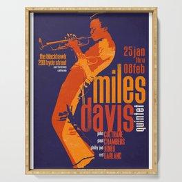 Miles Da-vis Retro Style Concert Poster Art Print Serving Tray