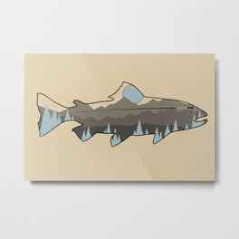 Fly Fishing Blue Mountain Trout Metal Print