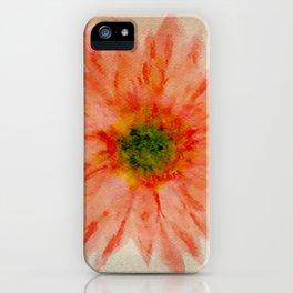 salmon flower iPhone Case