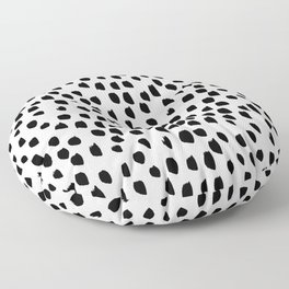 Hand drawn drops and dots on white - Mix & Match with Simplicty of life Floor Pillow