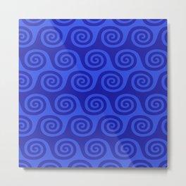 Retro Wave Pattern 222 Metal Print