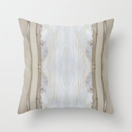 Sandy Snow Banks Throw Pillow