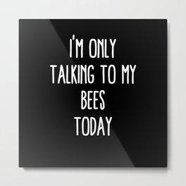 Funny Bees Metal Print
