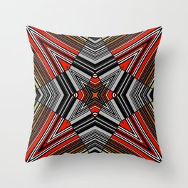 abstract star, geometric, simple, striped Throw Pillow