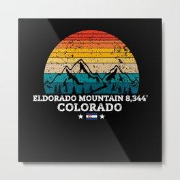 ELDORADO MOUNTAIN 8,344' Colorado Metal Print