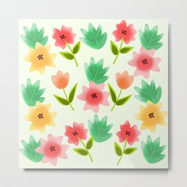 Flowers and leaves Metal Print