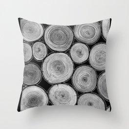 Tree Rings 2 Throw Pillow