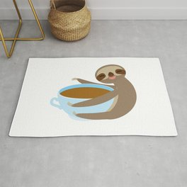 sloth & coffee 2 Rug