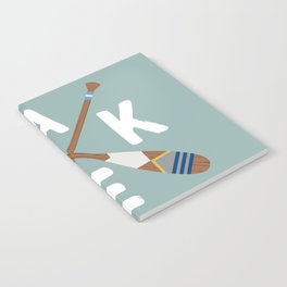 LAKE LIFE Painted Paddle Oars Notebook