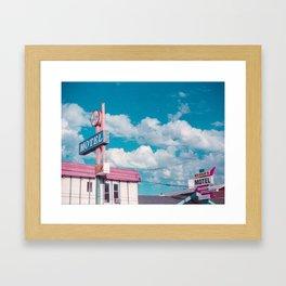 Astro Motel Framed Art Print