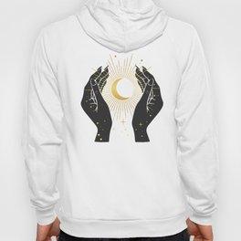 Gold La Lune In Hands Hoody