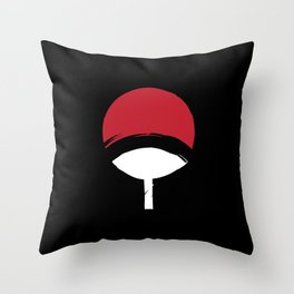 Uchiha Clan Logo Throw Pillow