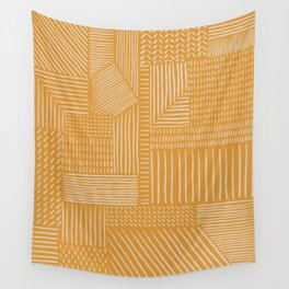 Mud Cloth / Yellow Wall Tapestry