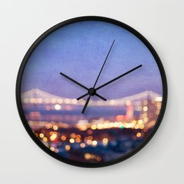 BAY BRIDGE GLOW - San Francisco Wall Clock
