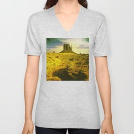 Scenic Mitten Butte, Monument Valley, Arizona Unisex V-Neck