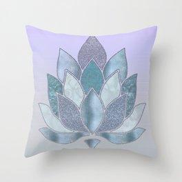 Elegant Glamorous Pastel Lotus Flower Throw Pillow