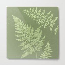 Dark olive fern Metal Print