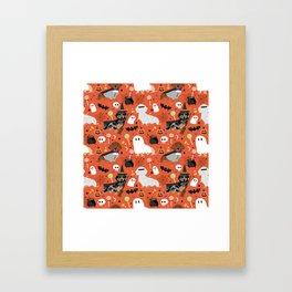 Dachshund dog breed halloween cute pattern doxie dachsie dog costumes Gerahmter Kunstdruck