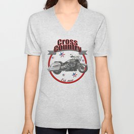 Victory Cross Country U.S.A. Star Motorcycle Unisex V-Neck